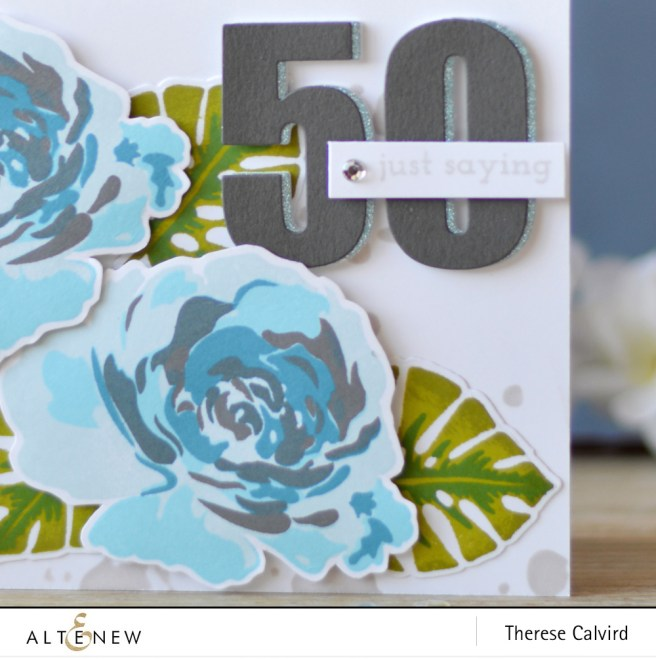 Altenew - Floral Fantasy - Bold Numerals - Parrot Paradise - Lositnpaper (card video) 1 copy