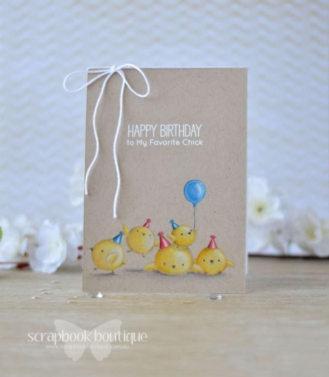 Lostinpaper - MFT - Birthday Chicks (card video) 1