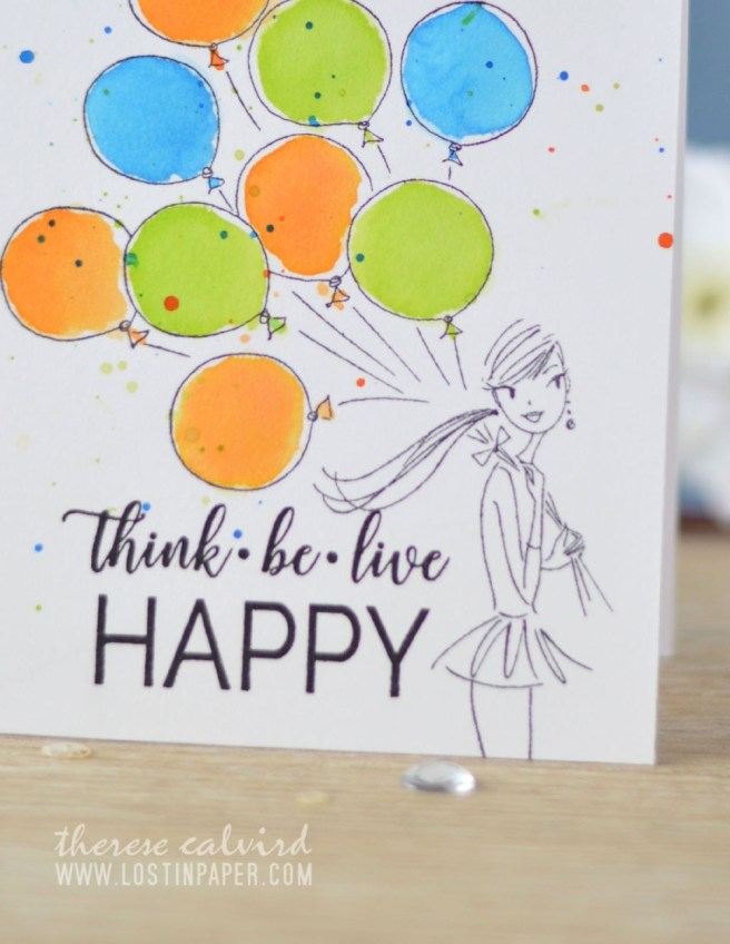 Lostinpaper - Penny Black - Birthday Balloons - Choose Happy (Gimme 5 card video) 1