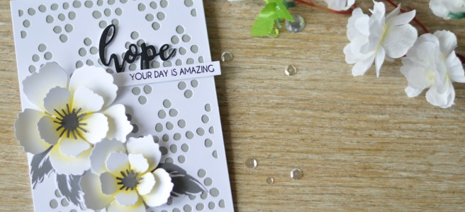 Altenew - BAF Peony Blossom - Hope - Doodled Dots - Therese Calvird (card video) 1 copy