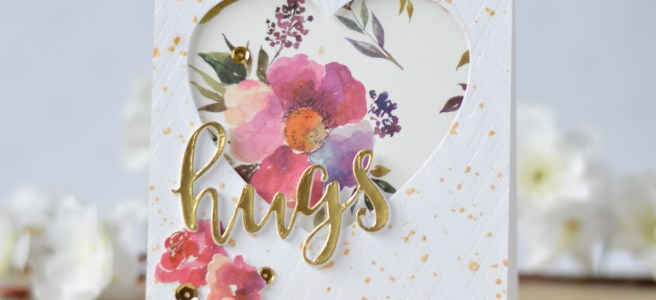 Altenew - Deco Wallpaper Stencil - Floral Flurries Washi - Therese Calvird (card) 1 copy