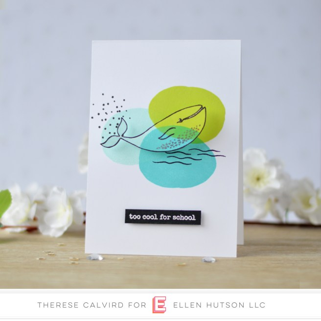 Lostinpaper - Ellen Hutson - S'Whale - Abstract Paint Strokes (card video) 1 copy