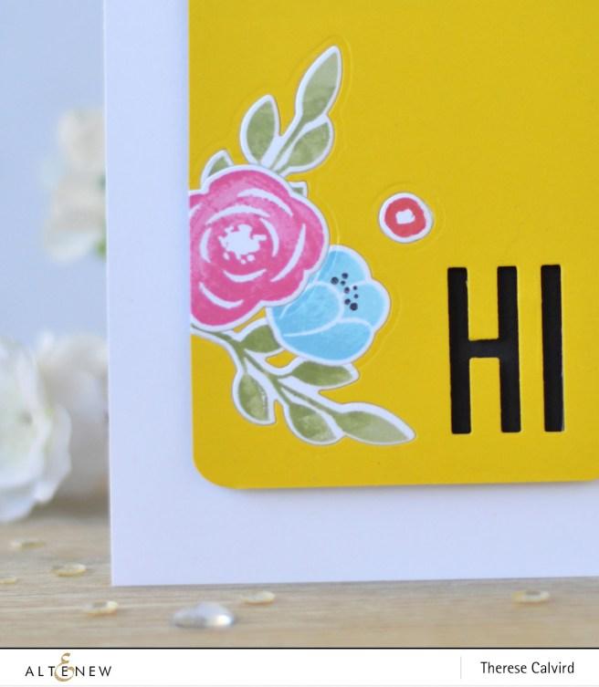 Altenew - Floral Elements - Fine Alphabet Die - Therese Calvird (card video) 1 copy