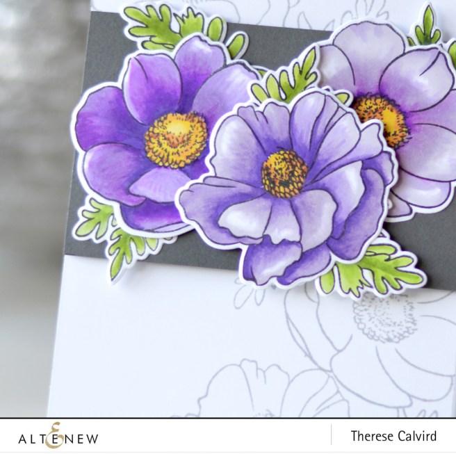 Altenew - BAF - Anemone Coronaria - Therese Calvird (card video) 1 copy