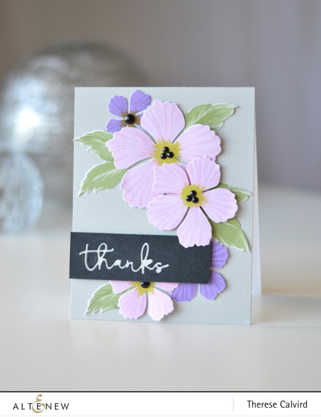 Altenew - BAF - Peony Blossom - Signature Words - Therese Calvird (card video) 1 copy