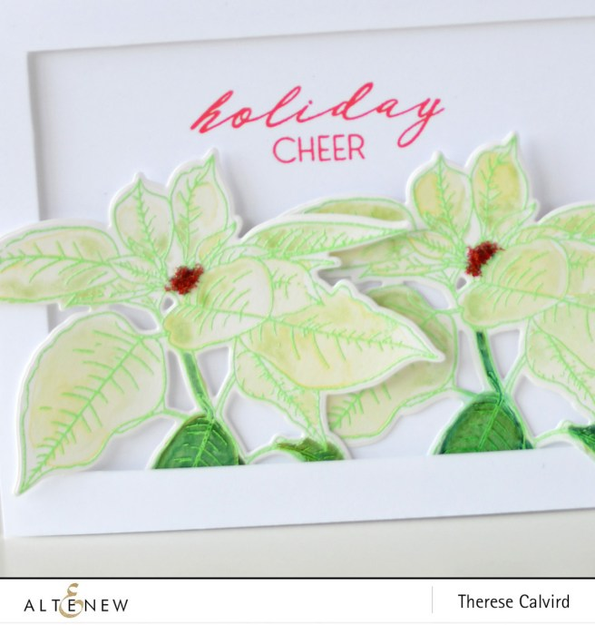 Altenew - Festive Poinsettia - Starry Night - Therese Calvird (card video) 1 copy