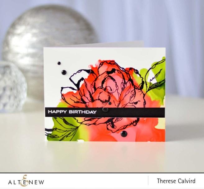 Altenew - Inked Flora - Floral Garden - Therese Calvird (card video) 1 copy