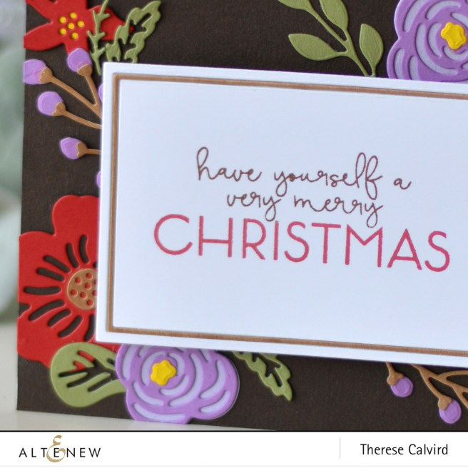 Altenew - Layered Floral Elements - Fine Frames Cover Die - Brilliant Baubles - Therese Calvird (card) 1 copy