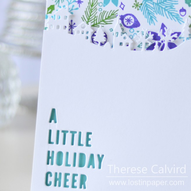 Lostinpaper - Concord & 9th - Deck The Halls - Holiday Cheer Tag - Penny Black - Winter Village (card video) 1