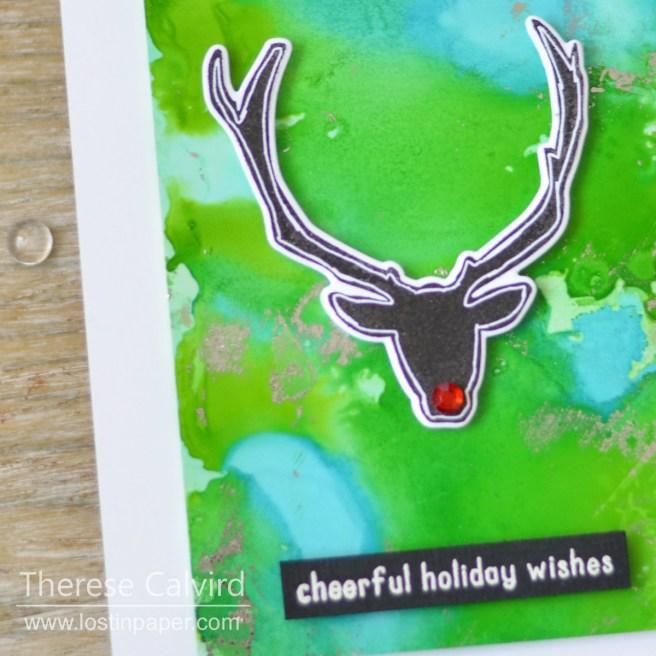 Lostinpaper - Altenew - Festive Silhouettes- Reverse Confetti - Triangle Trees (card video) 1