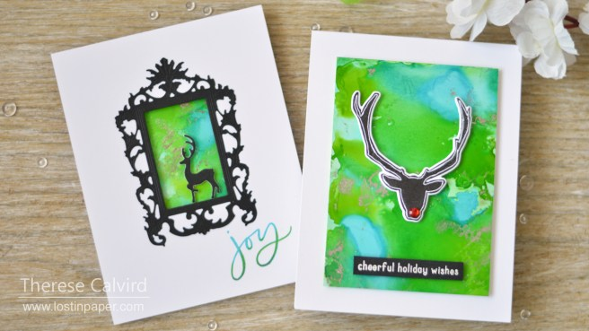 Lostinpaper - Same But Different Christmas Card Series 2018 - Yupo & Foil (3)