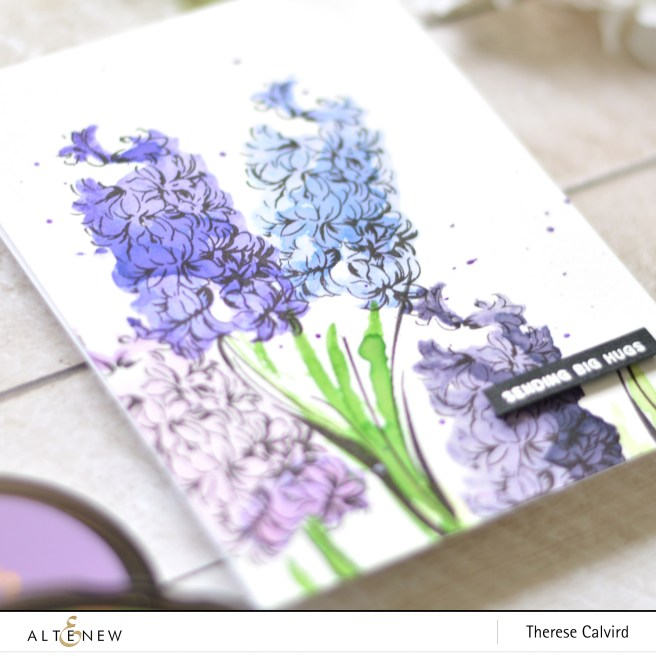 Altenew - BAF - Hyacinth - Flower Vine - Therese Calvird (card video) 1 copy