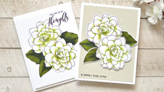 Altenew - Wispy Begonia - Therese Calvird (Take 2 card video) 5 - Copy