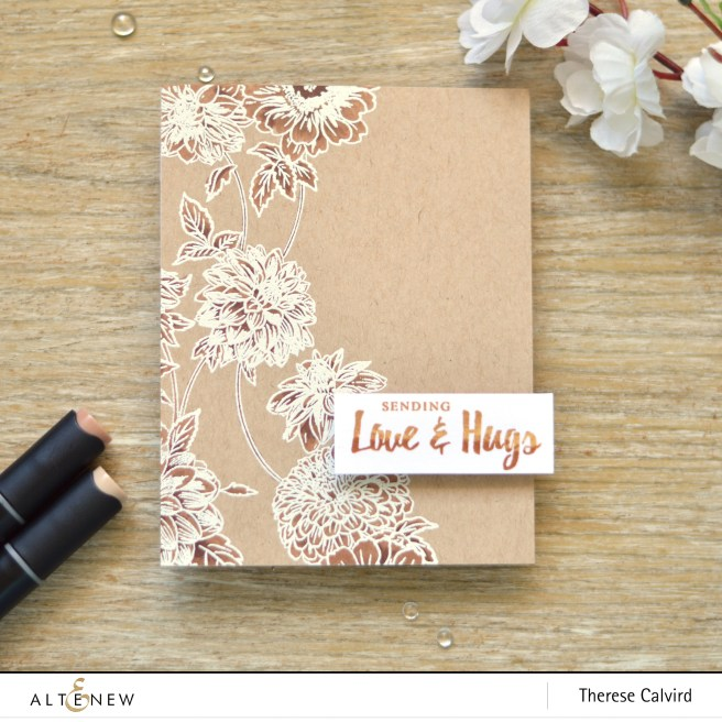 altenew - beautiful blossoms - artist markers d - therese calvird (card video) 1 copy