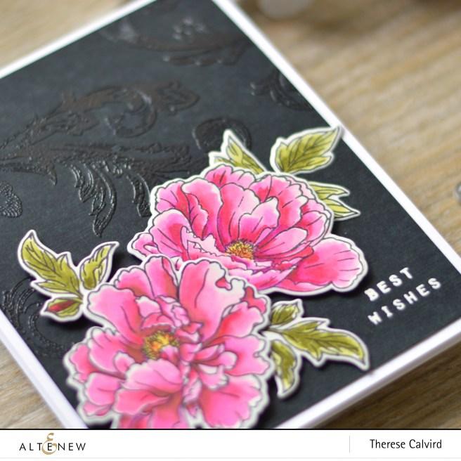altenew - beautiful peony - baroque motifs - therese calvird (card) 1 copy