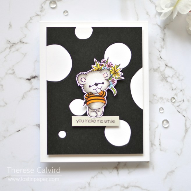 Lostinpaper - Gimme 5 Penny Black - Easy Abstract Flowers (card video) 3