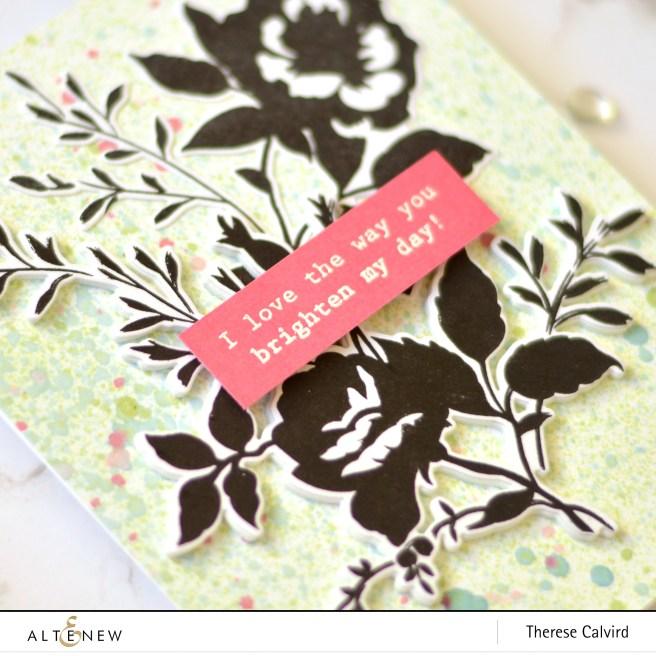 Altenew - Dainty Bouquet - Ink Sprays - Take 2 Wtih Therese (card video) 1 copy