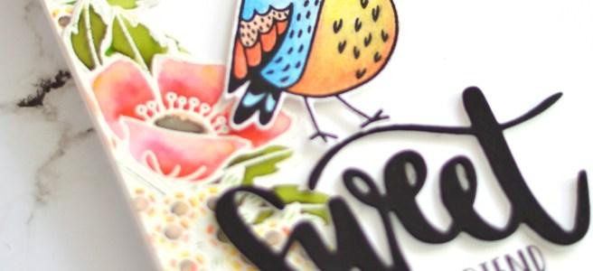 Lostinpaper - Catherine Pooler - Fluttering Friends - Ellen Hutson - Colour with U (card video) 1