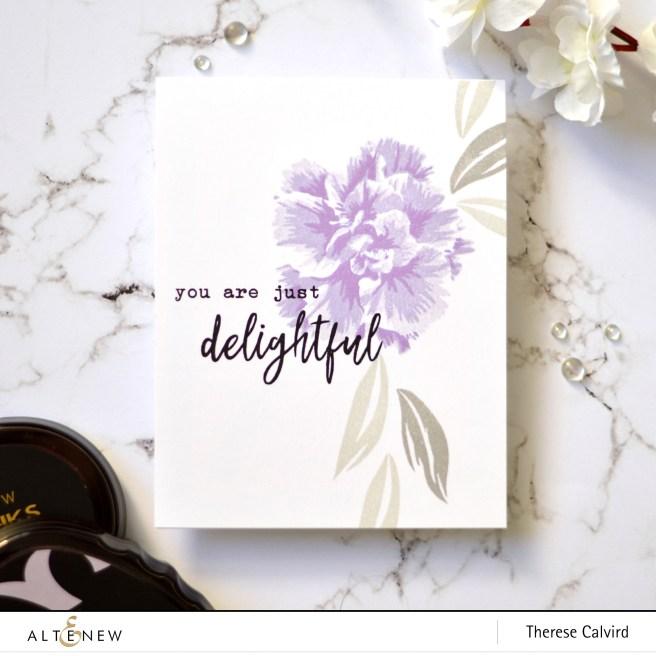 Altenew - BAF Camellia Japonica - Therese Calvird (card video) 1 copy