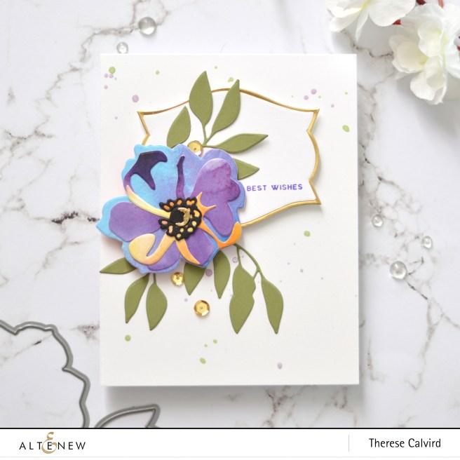 Altenew - Virginia Rose 3D Die - Nesting Labels Die - Therese Calvird (card) 1 copy
