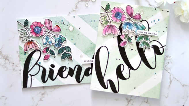 Altenew - Weekend Doodles - Mega Greetings - Take 2 With Therese (card video) 1 copy