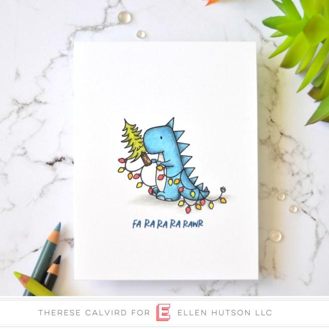 Lostinpaper - Ellen Hutson - Dinomite Christmas (card video) 1 copy