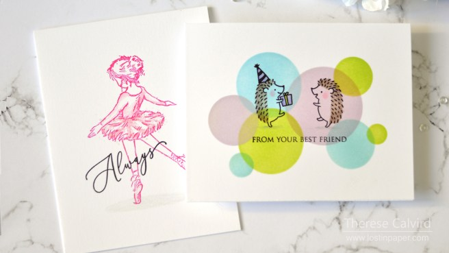 Penny Black Gimme 5 - One Layer Image Cards - Therese Calvird (card video) 1