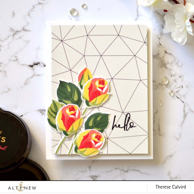 Altenew - Rosy Outlook - Hellebore - Therese Calvird (card) 1 copy