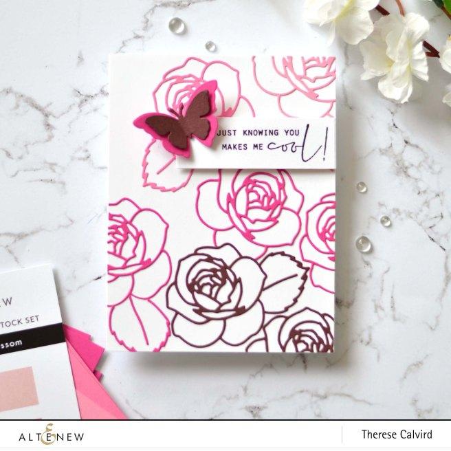 Altenew - Layered Rose Die - Stone Mosaic - Therese Calvird (card) 1 copy