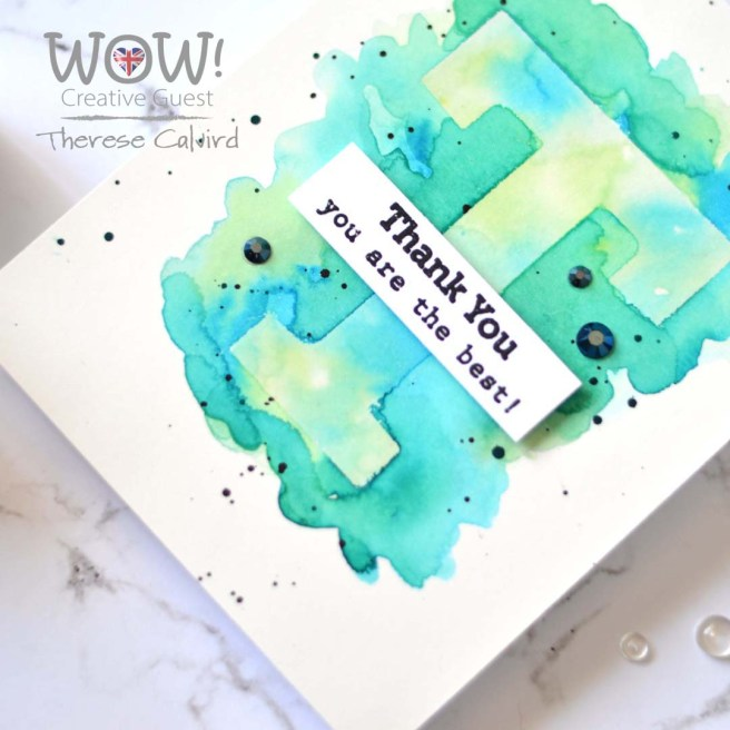 WOW! Glitter & Resist T - Therese Calvird (card video) 5 copy