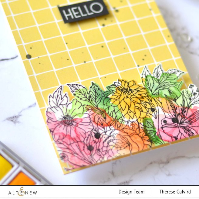 Altenew - Exotic Garden - Ornamental Bliss - Watercolor - Therese (card video) 1 copy