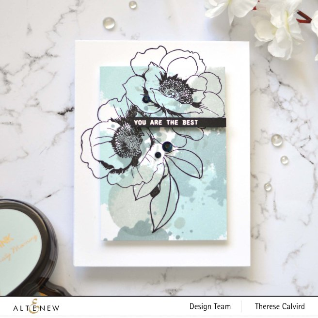 Altenew - Precious Peony - Wallpaper Art - Take 2 With Therese (card video) 2 copy - Copy