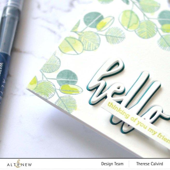 Altenew - Retro Plantines - Hello and Hugs - Therese Calvird (card) 2 copy