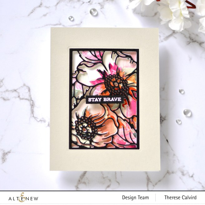 Altenew - Dog Rose Panel A & B - Take 2 With Therese (card video) 1