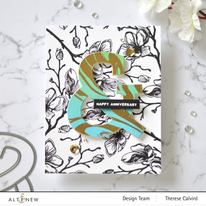 Altenew - Marbled Dream Washi Tape - Mega Ampersand Die - Take 2 With Therese (card video) 7