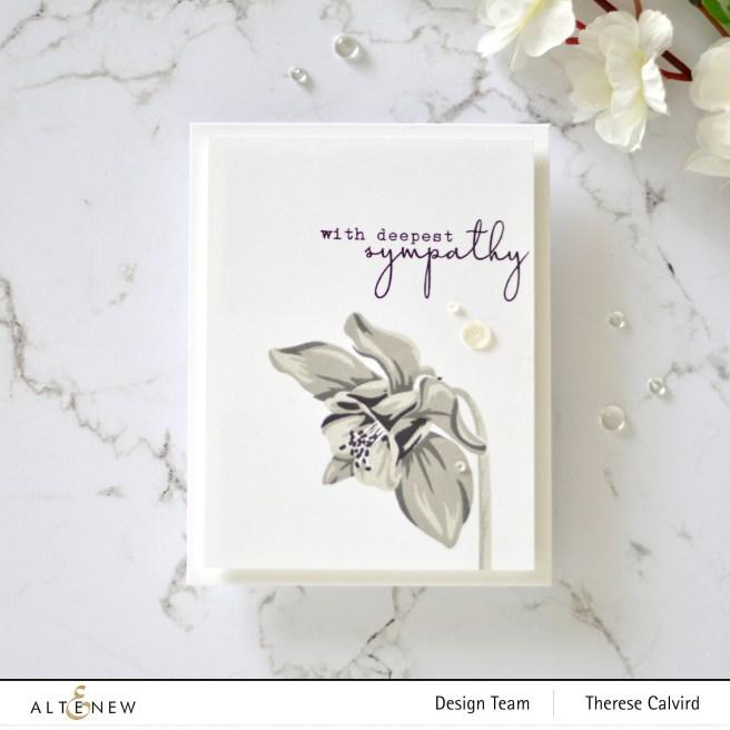 Altenew - Build-A-Flower Columbine - Therese Calvird (card video) 1 copy