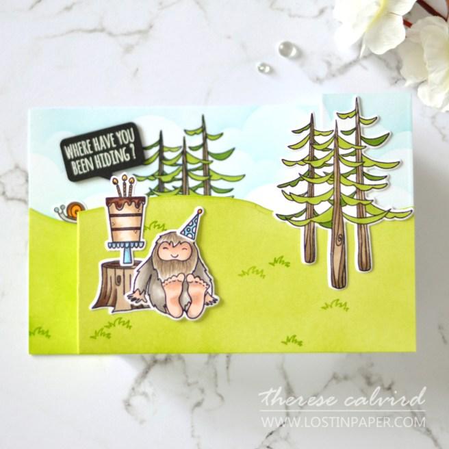 How to Make a Pop Up Wiper Card - Ellen Hutson - Therese Calvird (card video) 1