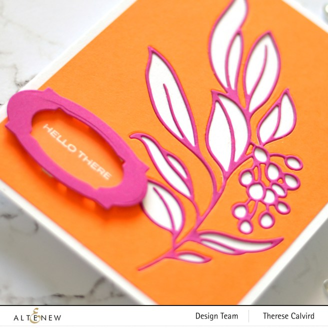 Altenew - Hanging Garden - Bold Thanks - Apothecary Labels - Therese Calvird (card video) 2 copy