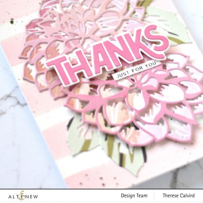 Altenew - Craft-A-Flower-Dahlia - Bold Thanks Die - Flower Vine 1 copy