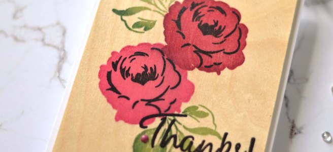 Altenew - Mixed Media Ink - Coral Berry - Ruby Red - Grapevine - Forest Glades - Evergreen - Jet Black - Birch Wood - Winter Rose (card video) 1 copy