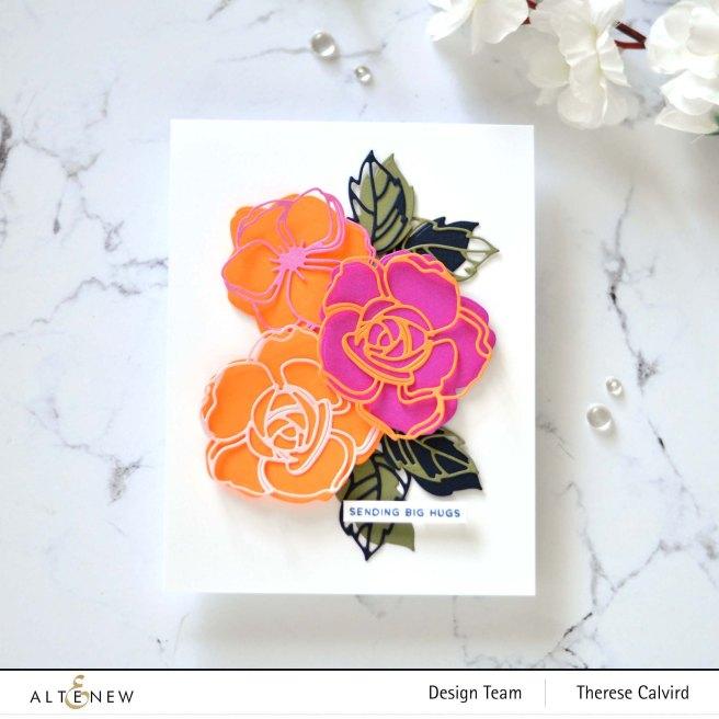 Altenew - Floral Doodles Die - Flower Vine Stamp Set 2 copy