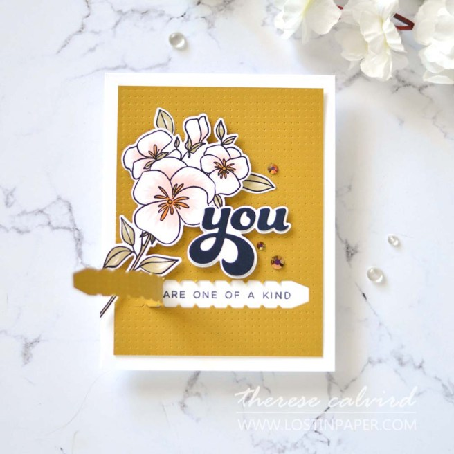 Lostinpaper - Ellen Hutson - All About You - A2 Piercing Plate - Pressing Thoughts - Zipper Pull (card)