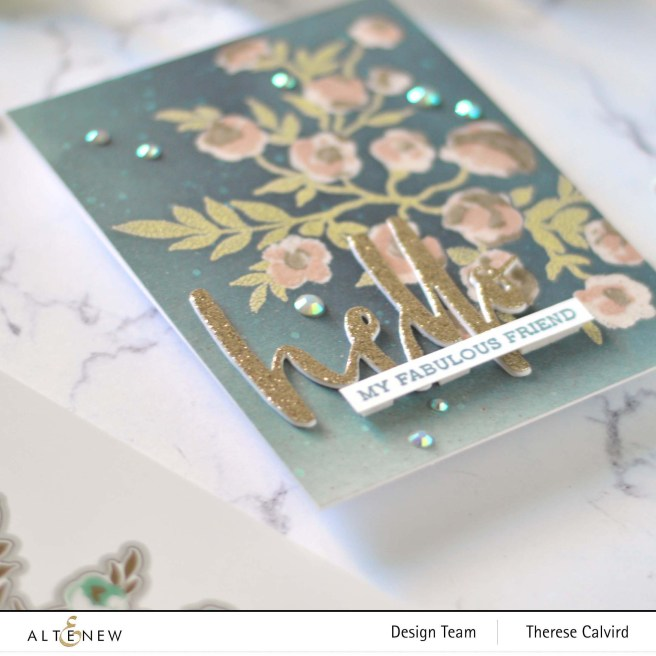 Altenew - Meadow Bush - Waterbrush Hello - Sentiment Strips 2 - Take 2 With Therese (card video) 1 copy