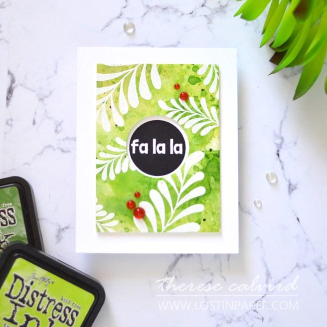 Lostinpaper - Unique Distress Backgrounds for Card Making Majestic Mistletoe - Christmas Circles (LIVE VIdeo) 1