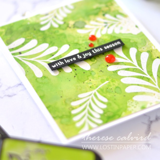 Lostinpaper - Unique Distress Backgrounds for Card Making - Majestic Mistletoe - Triangle Trees (LIVE VIdeo) 1