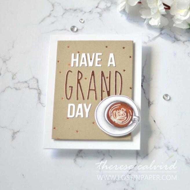Lostinpaper - Ellen Hutson - Latte Love - Tall N Skinny Alpha - Tiny Stars - Block Words (card)