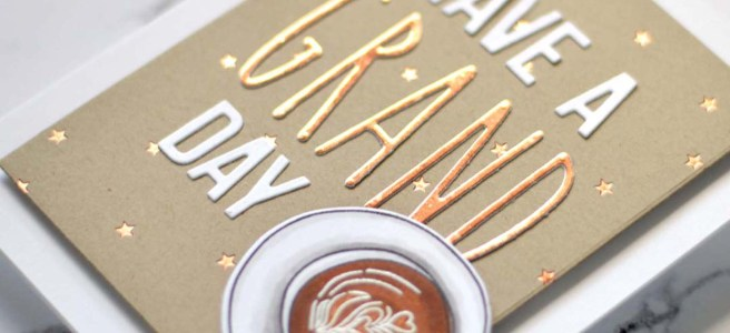 Lostinpaper - Ellen Hutson - Latte Love - Tall N Skinny Alpha - Tiny Stars - Block Words (card) thumbnail