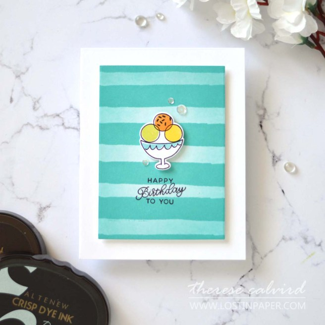 Lostinpaper - Double Background Fun - Painted Stripes - Cake LIVE (card video) 2