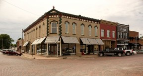 Many of the buildings in downtown have been restored in Woodbine, Iowa Friday, June 16, 2017. (photo by Jerry L Mennenga©)