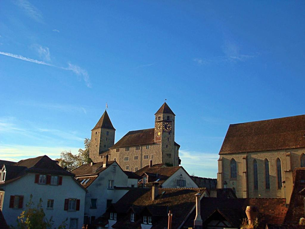 Head up to Rapperswil castle to get a great view over the lake and into the mountains.